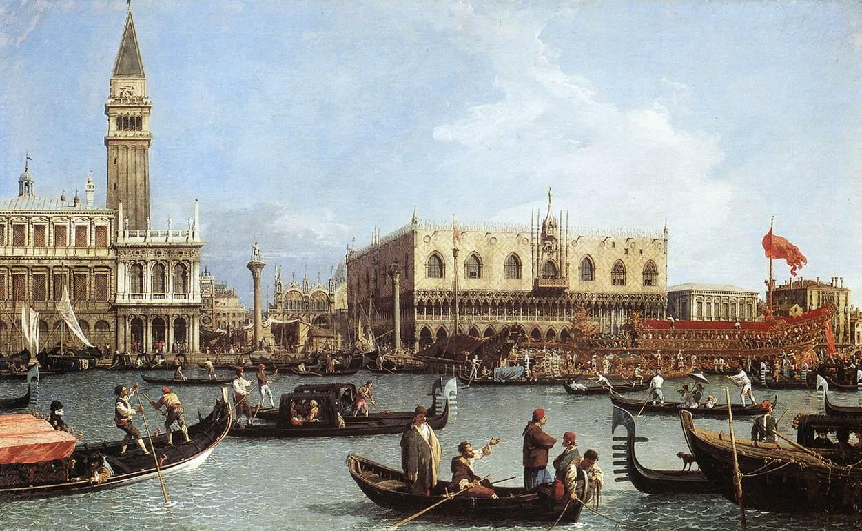 San Marcos el día de la Ascensión - Canaletto, 1732