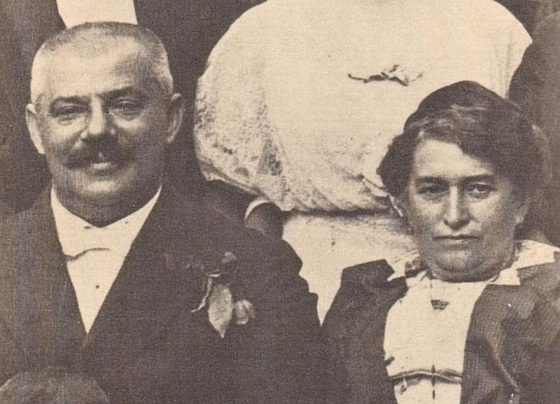 Los padres de Kafka, Hermann y Julie en 1913