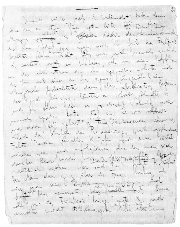 El Proceso, primera página
