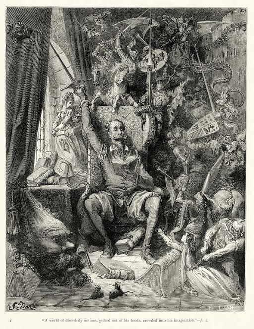 Don Quijote. Gustave Doré,  1863