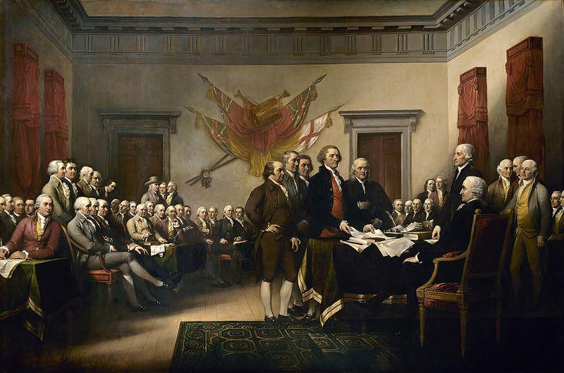 Declaración de independencia, John Trumbull s.f.