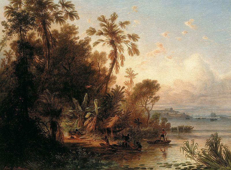 Ferdinand Bellemand, En el Orinoco, 1860