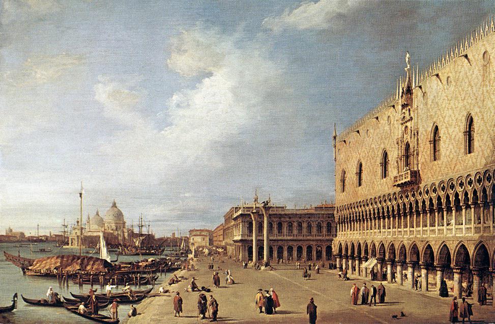 Canaletto, el palacio ducal, 1730