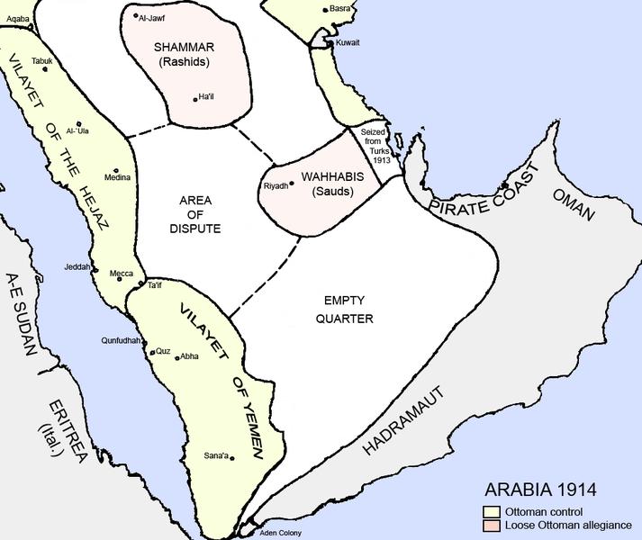 Arabia en 1914