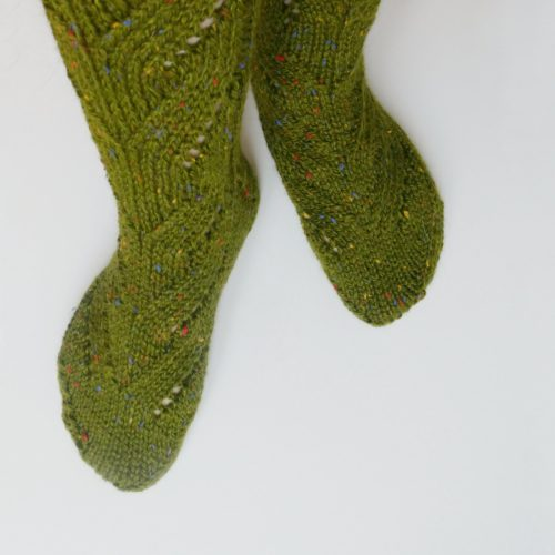 Calcetines tejidos a mano