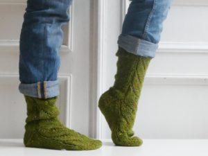 Calcetines tejidos con lana phildar randonnees